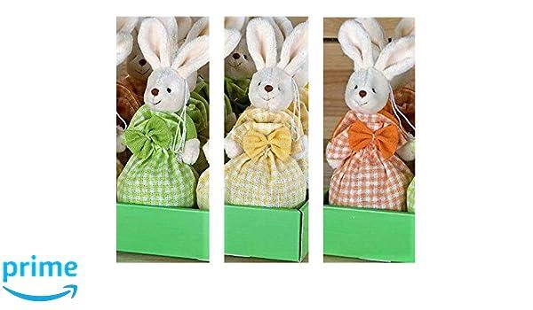 Mopec Tris de Conejitos en Bolsa de tela con praliné de ...