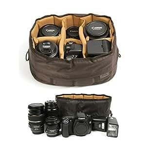 Ciesta Flexible Camera Insert Partition for DSLR SLR Lens (Brown / Medium)