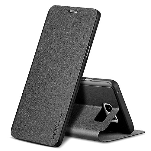 Ultra Flip PU Leather Case For Samsung Galaxy Note 5 (Black) - 1