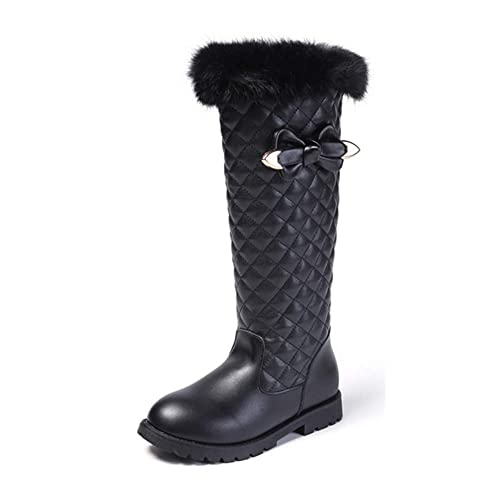 879f282be7d2a BININBOX Girls Knee High Boots Genuine Leather Snow Boots Girls Winter  Boots Kids