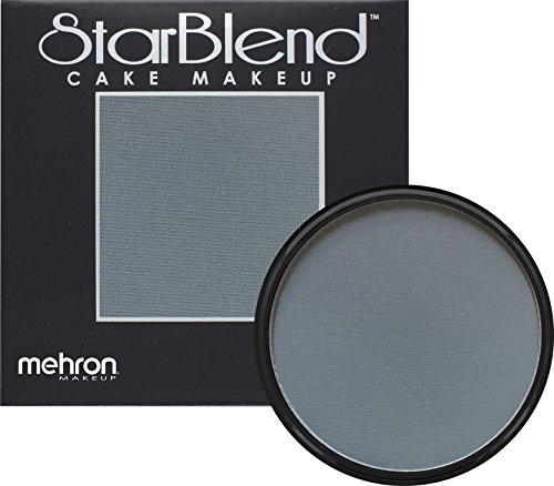 Mehron Makeup StarBlend Cake Makeup MONSTER GREY – 2oz - 50 Shades Of Gray Costume Ideas