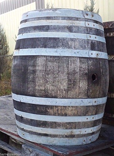 Rustic Wine Barrel Solid Oak Lowest price On Amazon! By Wine Barrel Creations