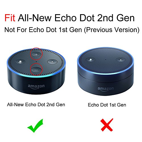 Fintie Wall Mount Stand Holder for Amazon Echo Dot (Fits All-New Echo Dot 2nd Generation) - Solid Metal with Hanger Loop, Black by Fintie (Image #2)