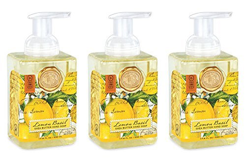 - Michel Design Works Foaming Hand Soap, 17.80-Fluid Ounce, Lemon Basil - 3-PACK