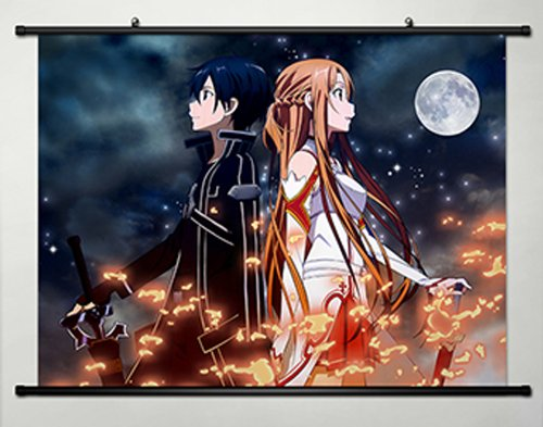 Home-Decor-Anime-Sword-Art-Online-Cosplay-Wall-Scroll-Poster-Kirito-Asuna-236-X-177-Inches-108S