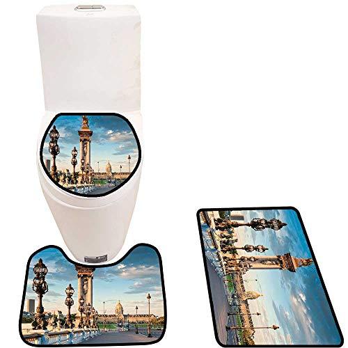 Lid Toilet Cover P Alexandre Iii Bridge Spanning River Seine Ornate Nouveau Lamps Personalized ()