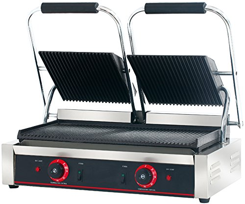 Hakka Commercial Professional Restaurant Grade Panini Press Grill and Sandwich Griddle 51OOxHIFiHL