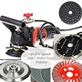 """Wet Polisher Tile Cutter Lapidary Saw Floor Burnisher 5"""" Polishing Pad Sanding cutting Disc 12+1 stone granite marble ceramic finishing buffing travertine concrete repair mortar paint remover -  Diamond Abrasive and Power Tools"""