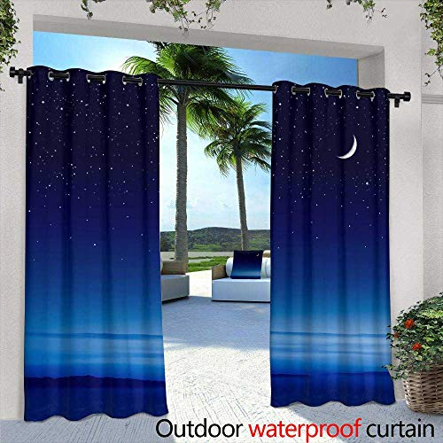 Lightly Outdoor- Free Standing Outdoor Privacy Curtain,White Stones, Bath Salts, Massage Sponge, and red Candle in The Garden with Bamboo,W96 x L108 Outdoor Curtain for Patio,Outdoor Patio Curtains