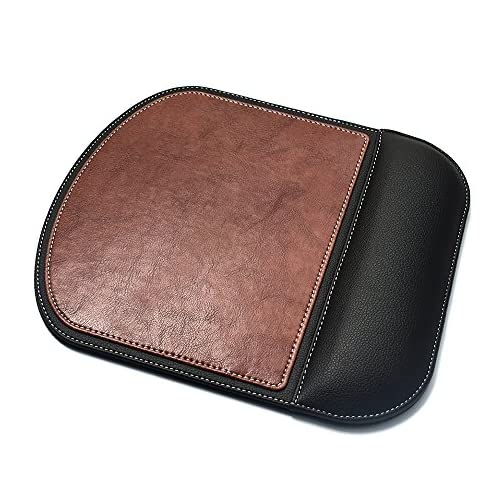 DoDoLightness Ergonomic Leather Mouse Pad with Wrist Comfort Memory Foam Waterproof Surface (Lbrown, 2427) |