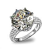 Superhai Shiny Crown Classic Fine Diamond Wedding Ring Engagement Ring Women