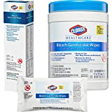 Clorox Healthcare Bleach Germicidal Wipes, 20 Count Soft Pack (31469),White