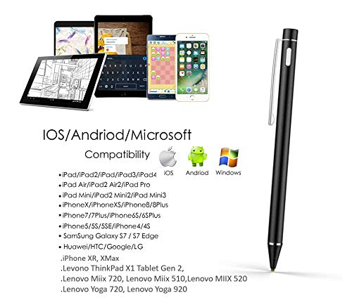 Active Stylus Touch Screen Drawing Writing Pen for Lenovo Yoga 730 720 Mix Miix 720 510 Flex 6 5 2 in 1 Laptop Replacement (NOT for Window Ink)