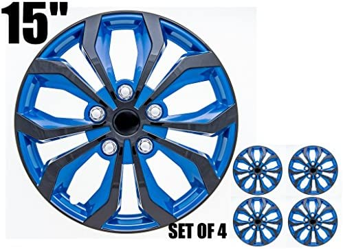 SPA Hubcaps for Standard Steel Wheels Wheel Covers (Snap On) (Pack of 4) (Fits 15