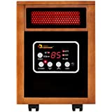 Red Engineered Dual System Portable Electric Fuel Type Quartz Infrared Heater