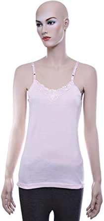 Mariposa Big Lace Camisole - L, Pink