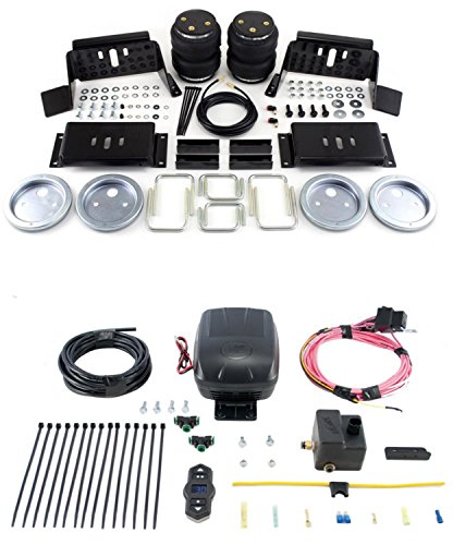 Air Lift 57298/25870 Set of Rear Load Lifter 5000 Series w/Wireless One Single Path On-Board Air Compressor System Kit for Ford F-250/F-350/FX4 Super Duty Pickup ()