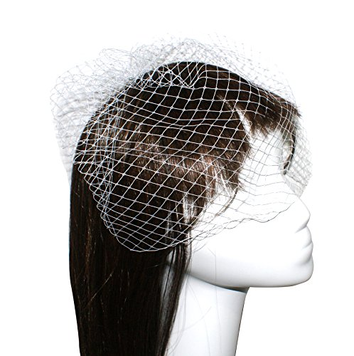 - Blank K Women Wedding Bridal Fascinator Birdcage Veil Derby Party Veil with Comb (Ivory)