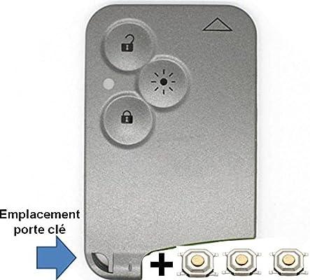 Funda de tarjeta de llave a distancia con 3 botones, para luces/faros, sin hoja, incluye 3 interruptores sin soldar