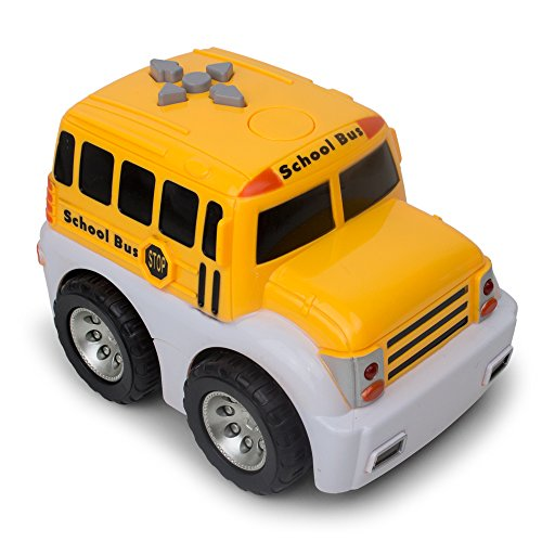 My Big Yellow School Bus - Mini Electric School Bus - Bump and Go Action - Red Lights and Sounds