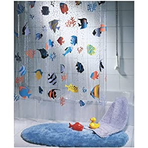 Spirella Fish Peva Clear Plastic Shower