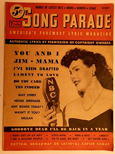 Song Parade America's Foremost Lyric Magazine Oct. 1941 Words of Latest Hits - Radio, Screen & Stage