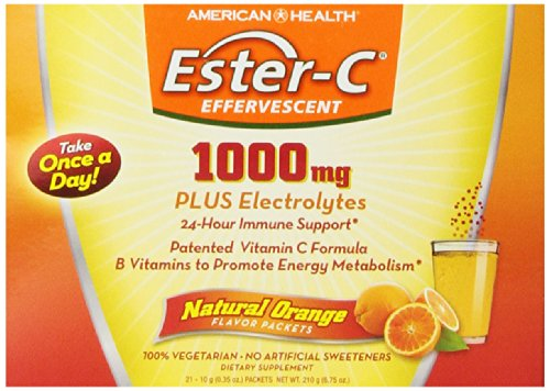 Effervescent Packets Powder (American Health Ester-C, Effervescent, 1000 mg, 21 Count)