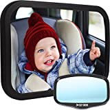 Baby : Baby Car Mirror for Back Seat | View Rear Facing Infant in Backseat | CRASH TESTED Best Newborn Safety Secure Double-Strap | FREE Cleaning Cloth & eBook | Lifetime Warranty | Baby Shower Gift Box