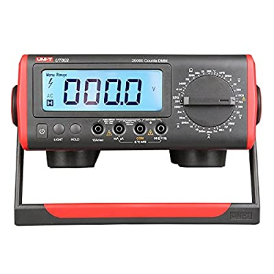 UNI-T UT802 Benchtop Digital Multimeter AC/DC Voltage AC/DC Current Resistance Frequency Capacitance Temperature Transistor (hEF) Diode 20000-count ±(0.1%+3)