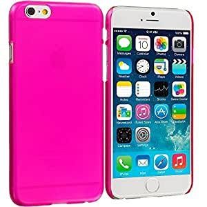Accessory Planet(TM) Hot Pink Crystal Hard Snap-On Rear Case Cover for Apple iPhone 6 Plus (5.5)