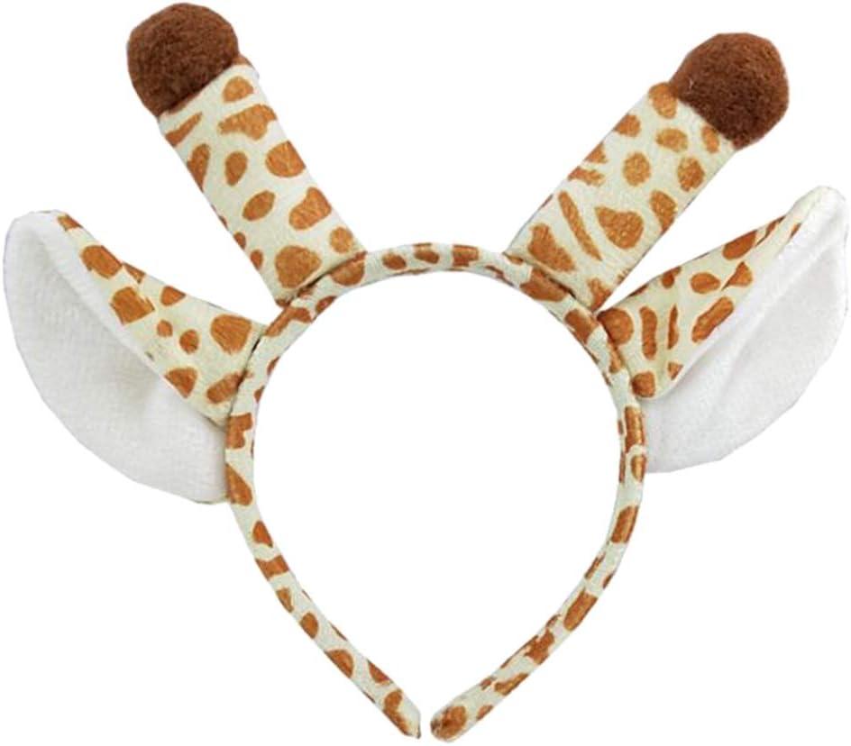 TopTie Giraffe Headband Plush Headwear Halloween Costume Accessories Party Favors