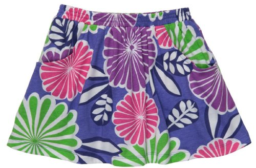 Carter's Knit Skort - Purple with Flowers-12 Months