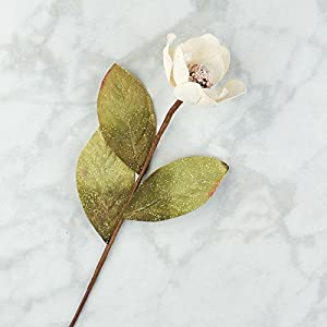 Factory Direct Craft Glittered Artificial Magnolia Floral Stems for Indoor Decor 5