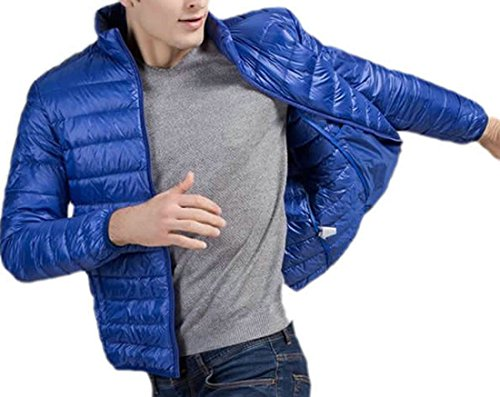 S Leggeri Cappotti Reale Blu Solide Fine Uomo Eku Piumino 7RwnpFHpq