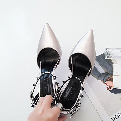 Verano Bajos Peep se Sandalias LI Toe Alto Zapatos Zapatos oras heelsWomen BAJIAN Sandalias Chanclas ExqRxUf