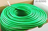 CablesOnline, 250FT Solid Pure-Copper CAT6E CMR 550-Mhz, High-Performance 23-AWG Copper Bulk Cable, Green , U6-B250G