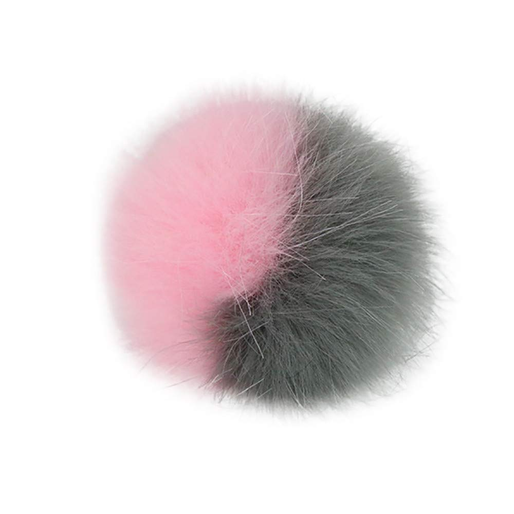 DIY Knitting Hats Accessires-Faux Fake Fur Pom Pom Ball with Press Button
