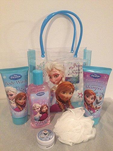 Disney Frozen Bath & Body Gift Tote Bag Set featuring Els...