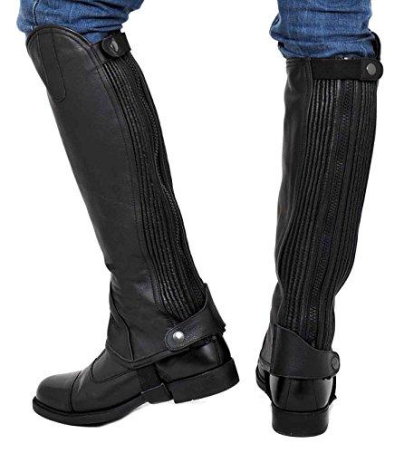 Riders Trend Full Grain Leather Gaiter - negro
