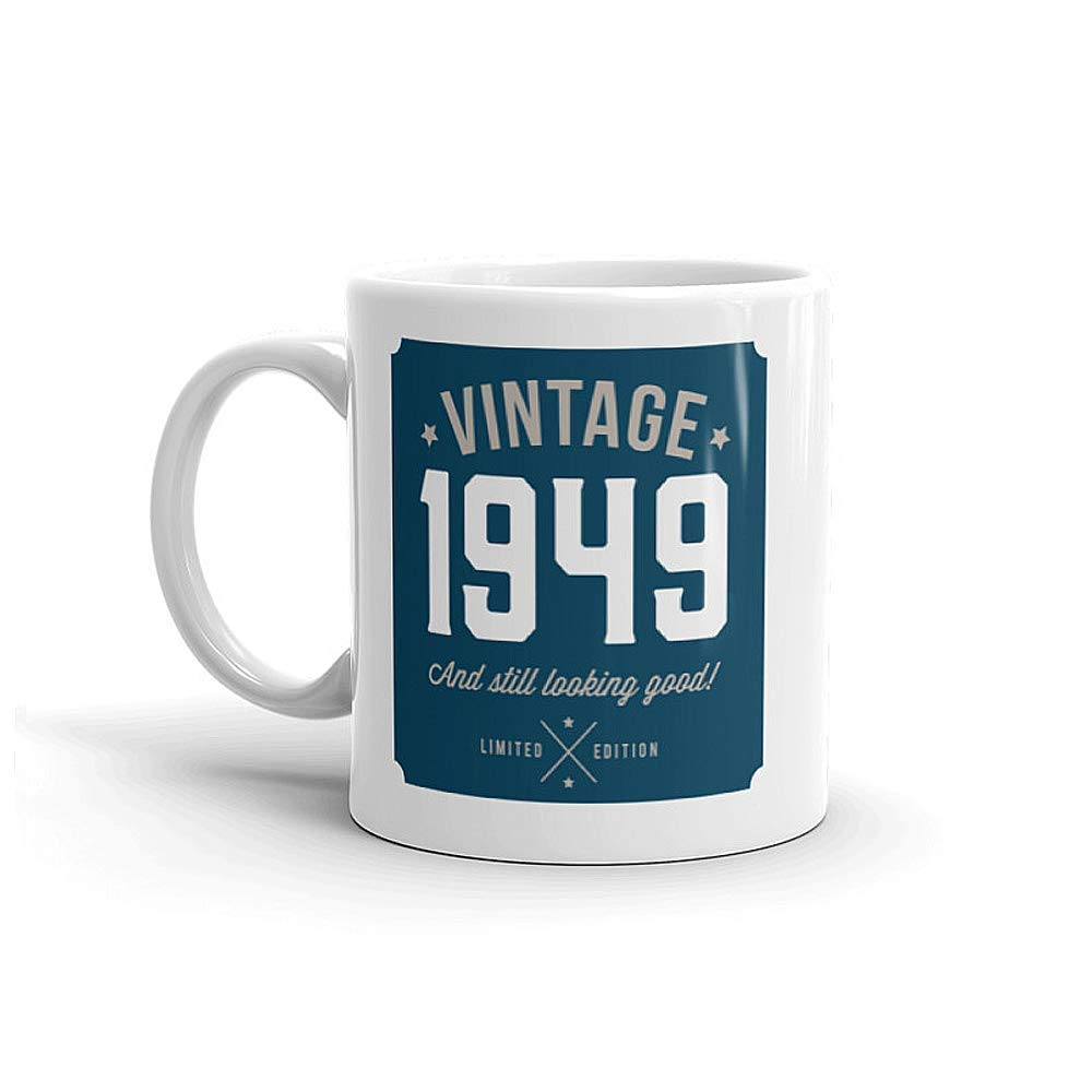 Amazon.com: 70th Birthday, Gift Idea, Present, Vintage Keepsake, For Men, 10oz Coffee Mug: Handmade
