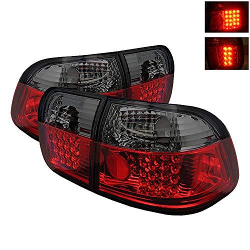 ACANII - For 1996-1998 Honda Civic Sedan Lumileds LED Red Smoked Tail Lights brake Lamps aftermarket Left+Right 1997