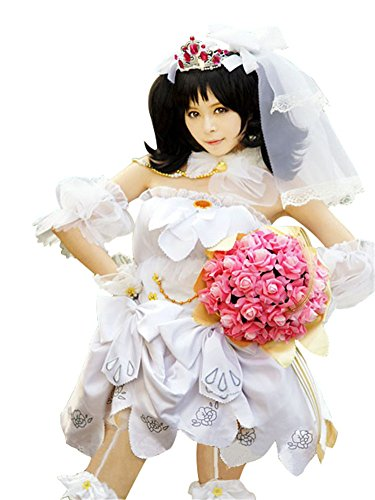 Mtxc Women's Love Live! Cosplay Costume Nico Yazawa Dress Size X-Large White by Mtxc