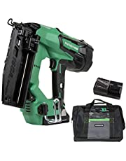 Metabo HPT CA Tools NT1865DMS Cordless Finish Nailer Kit Unique Air Spring Drive System 18V - 3.0 Ah Lithium Ion Battery Brushless Motor, 16 Gauge, Lifetime Tool Warranty