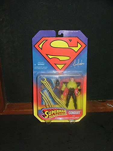 Superman Man of Steel Action Figure Conduit NIB SIGNED by Joe Jusko Kenner 1995