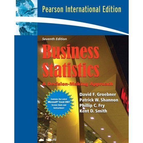 Business Statistics A Decision Making Approach Pdf