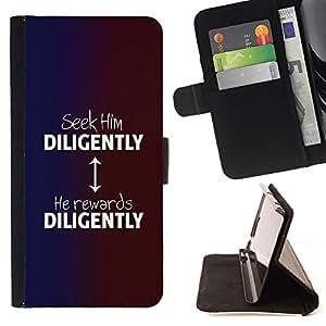 Momo Phone Case / Flip Funda de Cuero Case Cover - BIBLIA lo buscan diligentemente; - Huawei Ascend P8 Lite (Not for Normal P8)