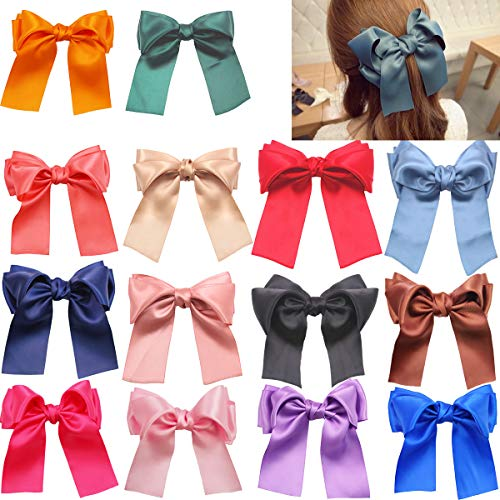 DED 14 Pcs Hair Bows Clips With French Barrette 6