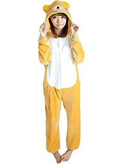 5f42d33185f1 Yimidear Unisex Adult Pajamas Cosplay Costume Rilakkuma Onesie Sleepwear