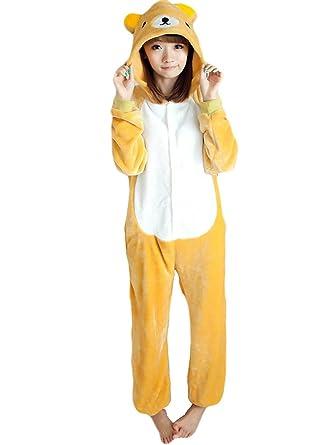 51d66b08361c Yimidear Unisex Adult Pajamas Cosplay Costume Rilakkuma Onesie Sleepwear