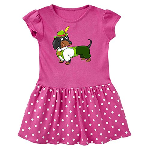 (inktastic - Cute Black and Toddler Dress 5/6 Raspberry with Polka Dots)